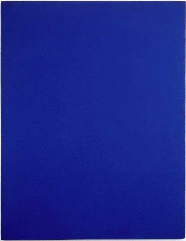 La Trinité Bleue, Rose et Or d\'Yves Klein Centre Pompidou