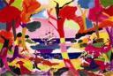 Charles Lapicque, L'Embarquement pour Cythere, 1980. Acrylique sur toile. Collection particulière (c) Photo Jean-Louis Losi / Adagp, Paris, 2008