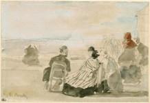 Les débuts de la photographie anglaise/française et de l'aquarelle