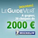 Gagnez des chèques vacances avec Michelin!
