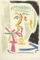 Pablo Picasso, Fumeur à la cigarette verte, 1970. Eau-forte, pointe sèche, grattoir, aquatinte BnF, dépt. des Estampes et de la photographie © Succession Picasso 2014