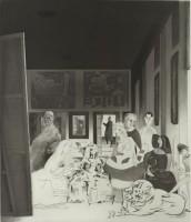 Richard Hamilton, Picasso's meninas, 1973 Eau-forte, aquatinte, roulette, brunissoir BnF, dépt. des Estampes et de la photographie © ADAGP 2014