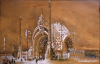 Binet Projet pour la Porte monumentale de l'Exposition uni- verselle de 1900, 1898. © Cl. Musées de Sens – E. Berry