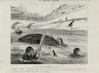 Une nouvelle manière de descendre le fleuve de la vie Le Charivari 22 avril 1843 © Maison de Balzac / Roger-Viollet