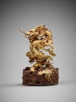 Dragon bondissant dans les nuées, or et bois, 1842 , Musée national d'Histoire du Vietnam, Hanoi © D.R./ Thierry Ollivier
