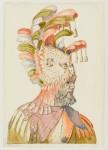 Figure masquée de profil vers la droite. Paris, Musée du Louvre, département des Arts graphiques, collection Edmond de Rothschild