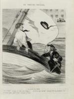 Le coup de vent Le Charivari 12 juillet 1843 © Maison de Balzac / Roger-Viollet