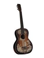 Guitare des années 1930 décorée au pochoir