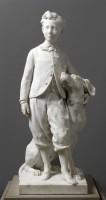 Le Prince impérial et le chien Nero, 1866 Marbre, 140,2 x 65,4 x 61,5 cm Paris, musée d'Orsay, RF 2042 © RMN-Grand Palais (Musée d'Orsay) / Michel Urtado