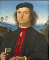 Le Pérugin, Portrait de Francesco delle Opere, 1494. Florence, Galleria degli Uffizi (c) Soprintendenza Speciale per il Patrimonio Storico Artistico ed Etnoantropologico e per il Polo Museale della Città di Firenze