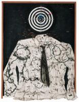 Saint Sébastien (Portrait of My Lover / Portrait of My Beloved / Martyr nécessaire,100 x 74 x 15 cm , peinture, bois et objets divers sur bois, Sprengel Museum, Hanovre, donation de l'artiste en 2000© 2014 Niki Charitable Art Foundation, All rights reserved / Photo : Laurent Condomina
