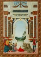 Le Pérugin, Saint Bernardin soigne d'un ulcère la fille de Giovanni Antonio Petrazio da Rieti, 1473. Péouse, Galleria Nazionale dell'Umbria (c) Per gentile concessione della Soprintendenza BSAE dell'Umbria-Perugia, Italy