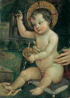 Bernardino di Betto, dit Pinturicchio. L'enfant Jésus 'aux mains', 1492/93. Pérouse, Fondazione Gugliemo Giordano © Fondazione Guglielmo Giordano