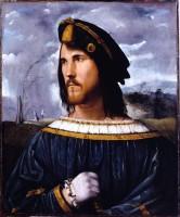 ltobello Melone. Portrait de gentilhommr (César Borgia ?), 1513. Bergame, Accademia Carrara di Bergamo © Archivio fotografico Accademia Carrara