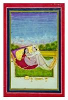 Position érotique Ecole de Jaipur XVIIIe ou XIXe siècle Aquarelle 28,6 x 21,6 cm  Collection privée © Photo: Pinacothèque de Paris