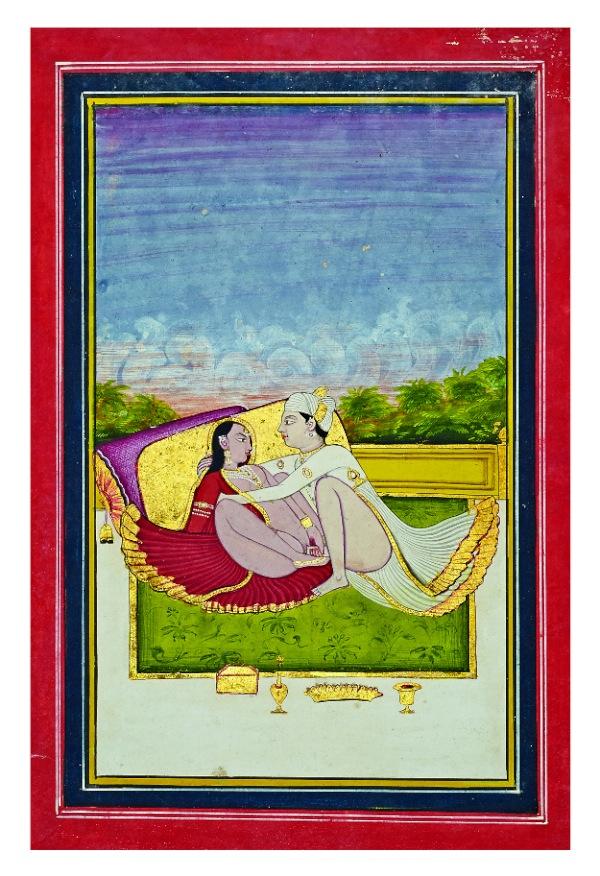Les figures érotiques de kama sutra dans l'art indien