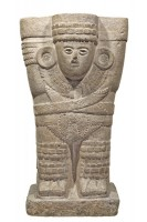 Atlante de Chichén Itzá avec un plastron dentelé. Postclassique ancien (900-1250 ap. J.-C.) © Museo Nacional de Antropología, Mexico, Mexique Photographe: Ignacio Guevara