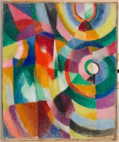 Sonia Delaunay, Prismes électriques, 1913-1914 © Pracusa 2013057 © Davis Museum at Wellesley College, Wellesley, MA, Gift of Mr. Theodore Racoosin