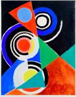 """Sonia Delaunay, Composition pour jazz, 2e série, No F 344"""", Paris, 1952 © Pracusa 2013057 © Courtesy Natalie Seroussi et Galerie Zlotowski, Paris"""