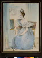 Achille Devéria (1800-1857), Portrait de Marie Nodier dans une loge à l'Opéra, vers 1829, Bibliothèque nationale de France, bibliothèque de l'Arsenal © Bibliothèque nationale de France, Paris