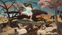 13. Henri Rousseau (1844-1910) La Guerre, 1894. Huile sur toile. Paris, musée d'Orsay © Musée d'Orsay, dist. RMN-Grand Palais / Patrice Schmidt