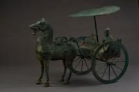 Attelage de la garde d'honneur, Dynastie Han, Bronze Découvert en 1979, site de Leitai (Wuwei, province du Gansu). Musée provincial du Gansu © Art Exhibitions China / Musée provincial du Gansu