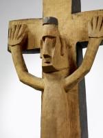 Sculpture anthropomorphe.  Iles Salomon. Bois sculpté, pigment noir © musée du quai Branly, photo Claude Germain