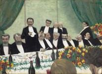 Félix Vallotton (1865- 1925) Le Toast, 1902 Huile sur carton, 49 x 68 cm Paris, musée d'Orsay, achat, RF MO P 2014 3 © Musée d'Orsay, dist RMN-Grand Palais / Patrice Schmidt