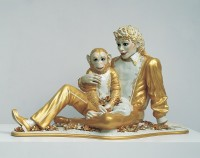 Michael Jackson and Bubbles, 1988 [Michael Jackson et Bubbles] Porcelaine Photo : Douglas M. Parker Studios, Los Angeles Collection particulière © Jeff Koons