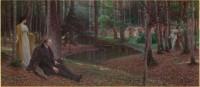 Maximilian Lenz (1860-1948) Le peintre Friedrich König et Ida Kupelwieser dans une forêt Vers 1910, huile sur toile, 100 x 229 cm Paris, musée d'Orsay, don de la société des Amis du Musée d'Orsay, RF 2013 19 © Musée d'Orsay, dist. RMN-Grand Palais / Patrice Schmidt © Droits réservés