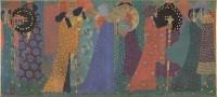 Vittorio Zecchin (1878-1947) Les mille et une nuits, vers 1914 Huile sur toile, 171 × 384 cm Paris, musée d'Orsay, achat, RF 2012 24 © Musée d'Orsay, dist. RMN-Grand Palais / Patrice Schmidt © Droits réservés