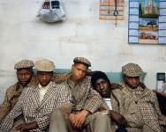 Loyiso Mayga, Wandise Ngcama, Lunga White, Luyanda Mzanti et Khungsile Mdolo après leur rite d'initiation, Mthatha, 2008