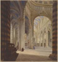 Viollet-le-Duc, Intérieur de la cathédrale de Sienne, 1836 (c) Ministère de la Culture - Médiathèque du Patrimoine, Dist. RMN-Grand Palais, Image RMN-GP