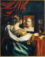 Nicolas Régnier, Vanité ou Jeune femme à sa toilette, vers 1626. Huile sur toile. Lyon, Musée des Beaux-Arts © 2014. DeAgostini PictureLibrary/Scala, Florence