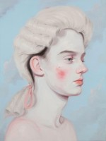 Kris Knight Slightly Off 2014 Oil on canvas, 61 x 46 cm Collection LG. Courtesy Galerie Alain Gutharc