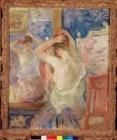 Berthe Morisot, Devant la psyché, 1890. Huile sur toile © Fondation Pierre Gianadda, Martigny