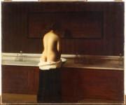 Eugène Lomont Jeune femme à sa toilette 1898 Huile sur toile 54 x 65 cm Beauvais, Musée départemental de l'Oise © RMN Grand Palais / Thierry Ollivier