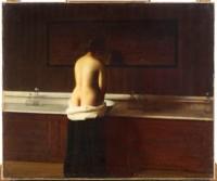 Eugène Lomont, Jeune femme à sa toilette, 1898. Huile sur toile. Beauvais, Musée départemental de l'Oise © RMN Grand Palais / Thierry Ollivier