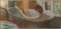 Edgar Degas, Femme dans son bain s'épongeant la jambe, vers 1883. Pastel sur monotype. Paris, musée d'Orsay © RMN-Grand Palais (musée d'Orsay) / Hervé Lewandowski