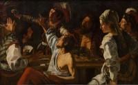 Theodoor Rombouts, La Rixe, 1620-1630 © Statens Museum for Kunst, Copenhagen