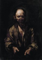 Jusepe de Ribera, Mendiant, vers 1612. Huile sur toile © Soprintendenza Speciale per il Patrimonio Storico, Artistico ed Etnoantropologico e per il Polo Museale della città di Roma