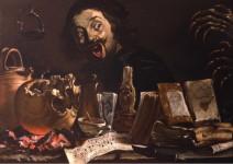 Pieter Boddingh van Laer, Autoportrait avec scène de magie, vers 1638-1639. Huile sur toile © Courtesy The Leiden Collection, New York.