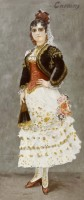 Henri Lucien Doucet, Célestine Galli Marié, dans le rôle de Carmen, huile sur toile, 1884, Paris, bibliothèque-musée de l'Opéra © BnF