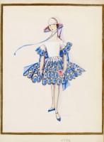 Dessin Maison Lanvin « Les petites filles modèles », 1925 © Patrimoine Lanvin