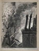 Paul Thiriat, Incendie de l'Opéra Comique, vue depuis les toits, 1887, Paris, musée Carnavalet © Musée Carnavalet / Roger-Viollet