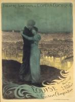 Georges Rochegrosse, Affiche : Louise, 1900 Lithographie en couleurs. Paris, Bibliothèque-musée de l'Opéra © BnF