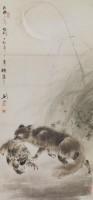 Gao Jianfu, Les faibles sont la proie des forts, 1914/28. Encre et couleurs sur papier (c) Hong Kong Museum of Art