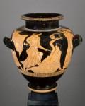Stamnos à figures rouges. La mort d'Orphée, vers 470 av. J.-C. (c) RMN -Grand Palais (musée du Louvre) / Hervé Lewandowski