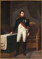Robert Lefèvre (1755-1830), Portrait de Napoléon Ier (1769-1821), en uniforme de colonel des chasseurs de la Garde, 1809. Commandé par la Ville pour l'Hôtel de Ville. Huile sur toile © Stéphane Piera / Musée Carnavalet / Roger-Viollet
