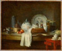 Jean-Baptise Chardin. La table d'office ou Les débris d'un déjeuner. Musée du Louvre